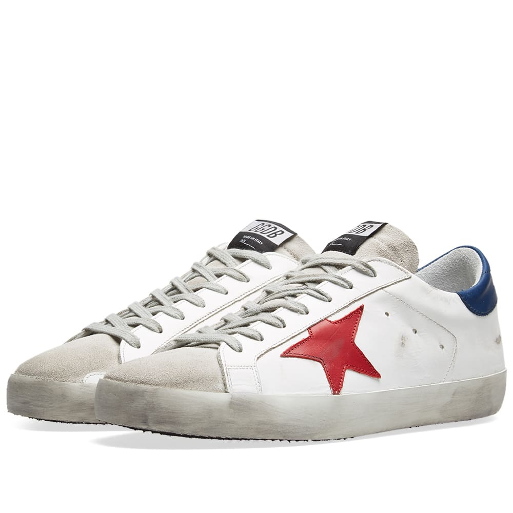 35f97da9f31 Golden Goose Deluxe Brand Superstar Leather Sneaker Red, White & Blue | END.