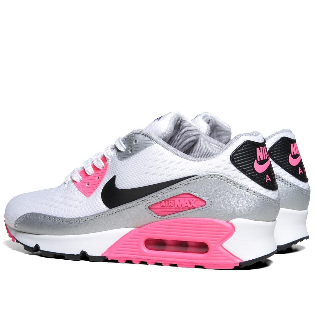 timeless design b5886 401a3 Nike Air Max 90 Premium EM White, Black   Pink Flash   END.