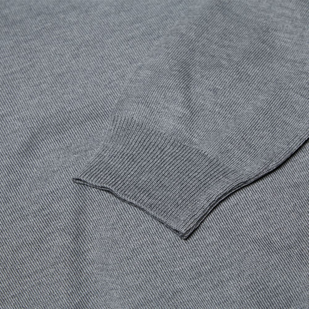 Fred Perry Single Tipped Merino V Neck Sweater (Marl Grey)