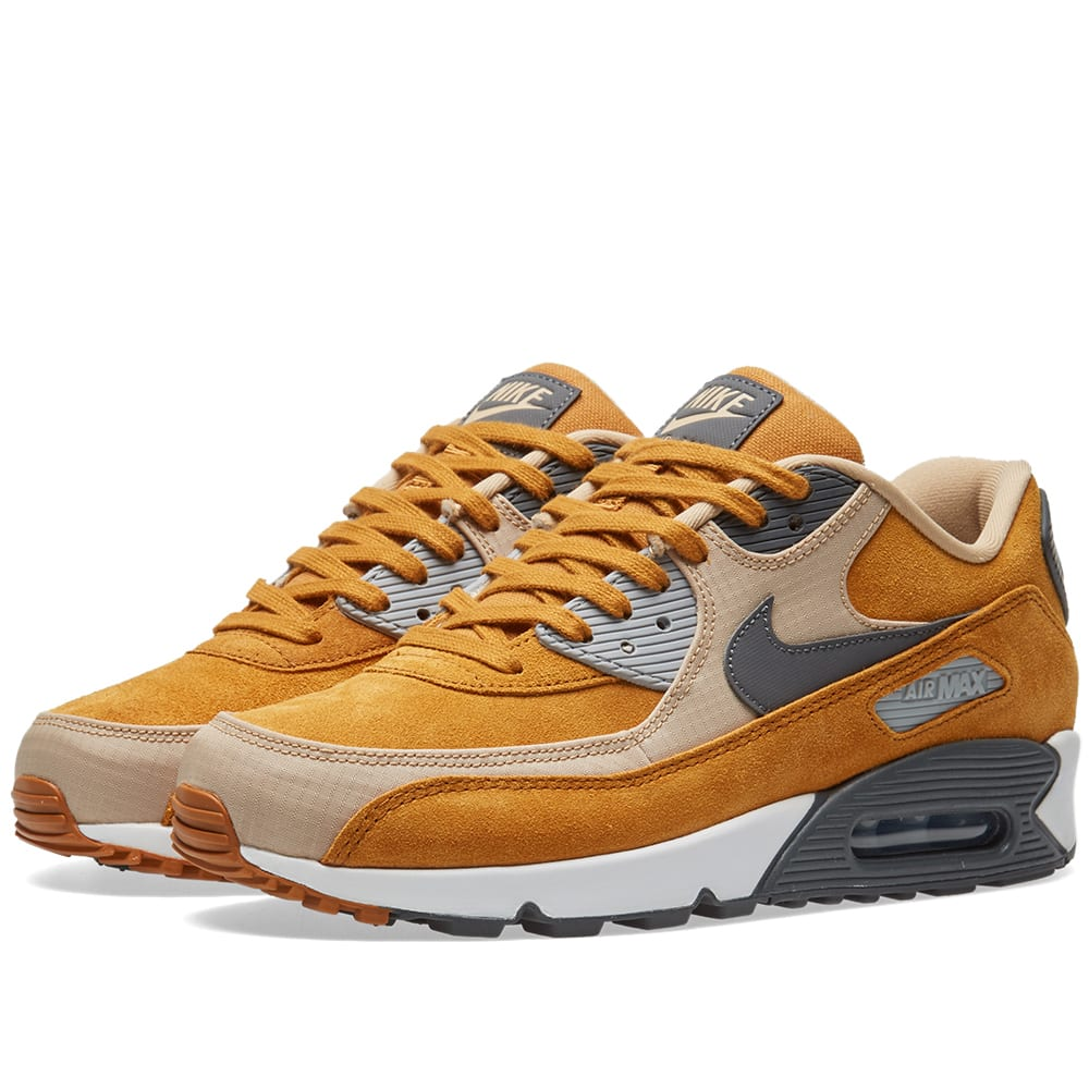 differently 183ed bdef3 Nike Air Max 90 Premium Desert Ochre, Grey   Linen   END.
