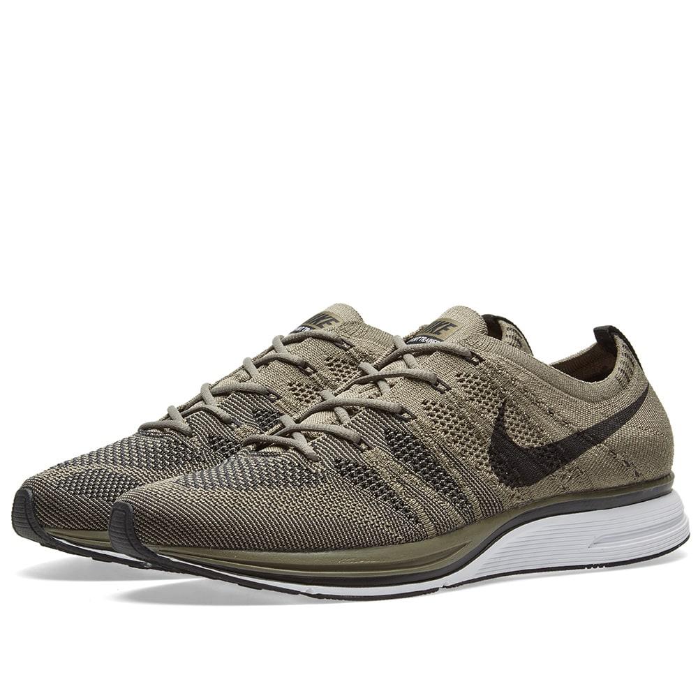 Nike Flyknit Trainer Medium Olive, Black & White | END.