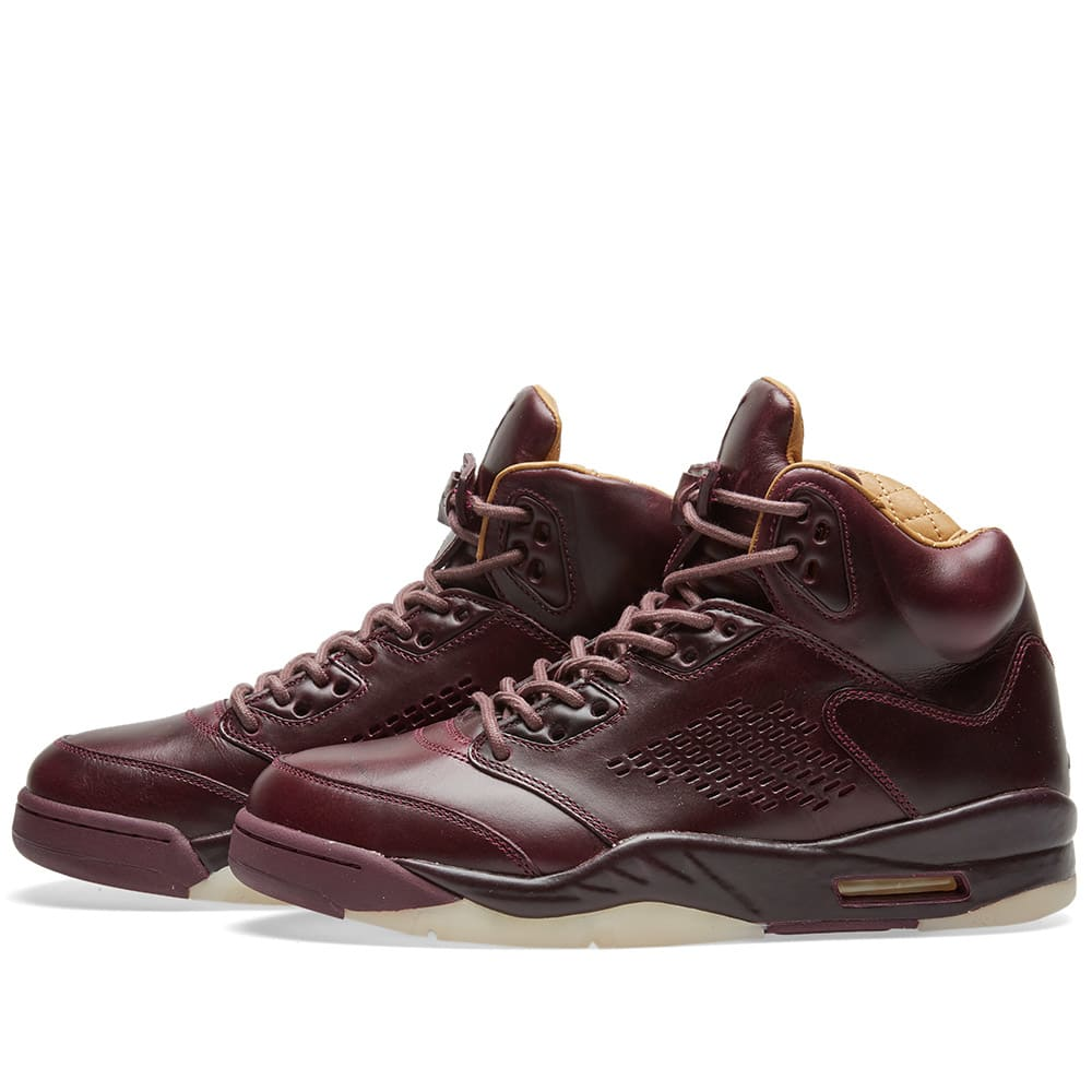 new style dc2db 43d8f Air Jordan 5 Retro Premium Bordeaux, Sail   Gold   END.