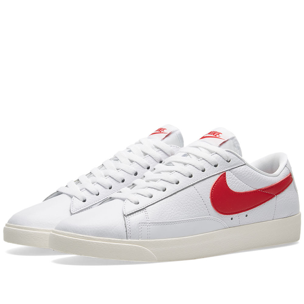 Nike Blazer Low Premium W White, Speed Red & Sail | END.