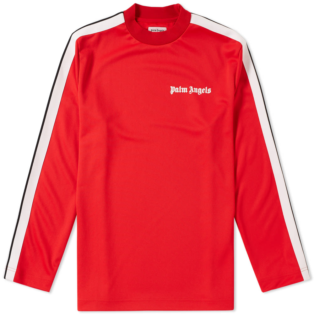 9979037a Palm Angels Track Taping Long Sleeve Tee Red | END.
