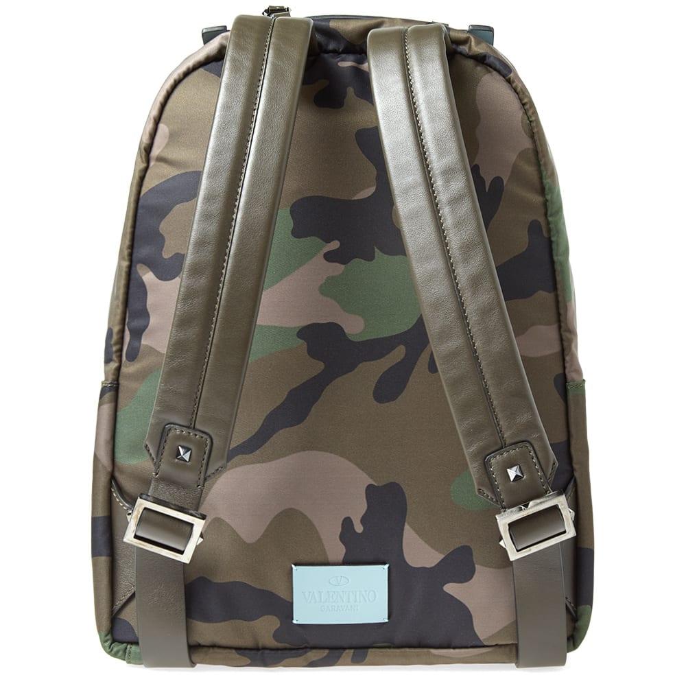 9170907caa Valentino Nylon Jacquard Camo Backpack