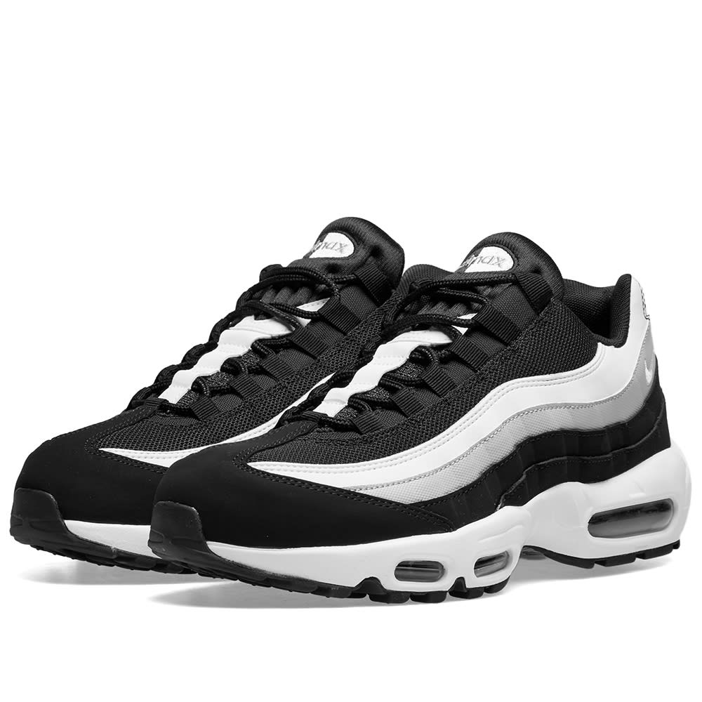 Nike Air Max 95 Essential Black, White & Grey | END.