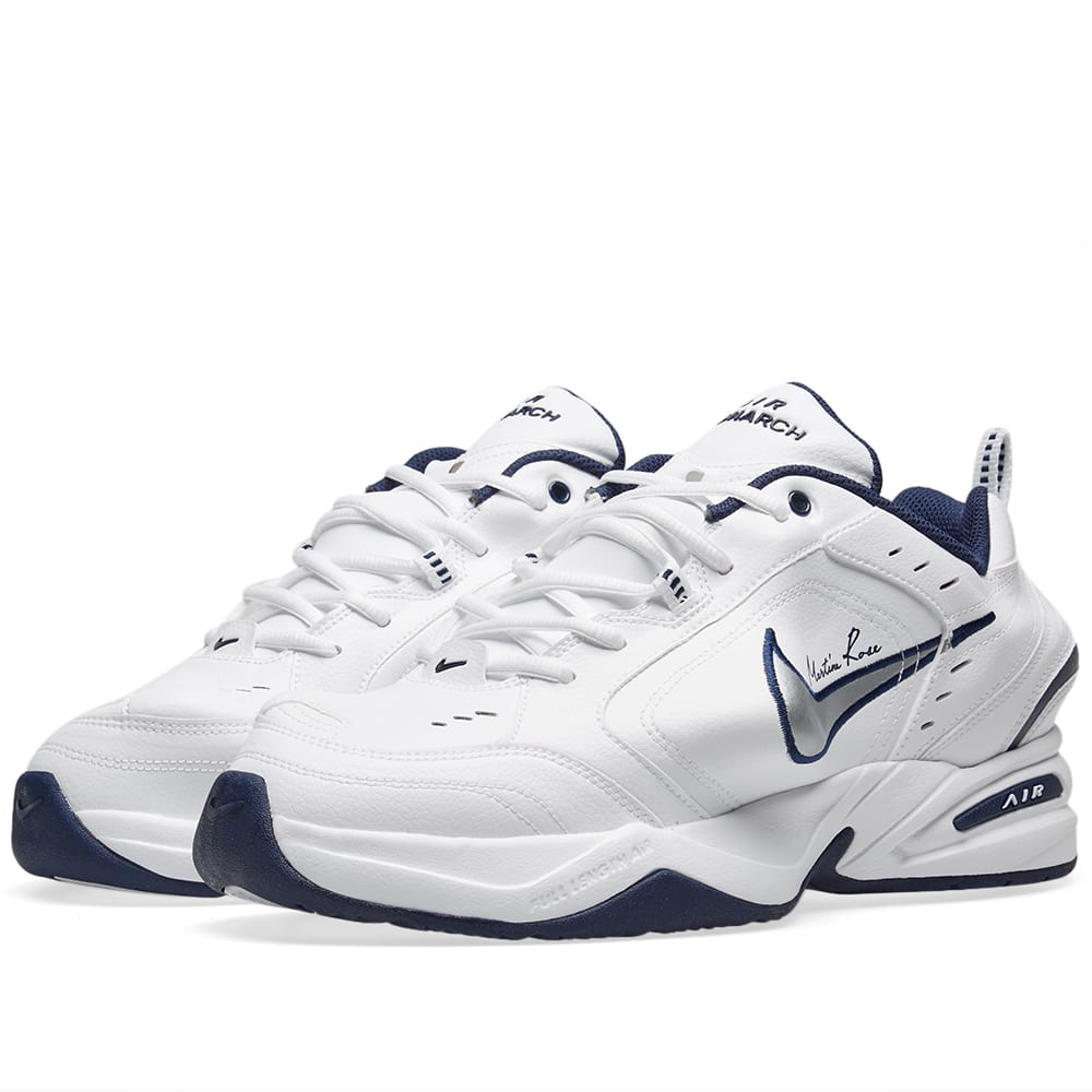 super popular 8f5c8 2e79d Nike x Martine Rose Air Monarch 4 White, Metallic Silver   Navy   END.