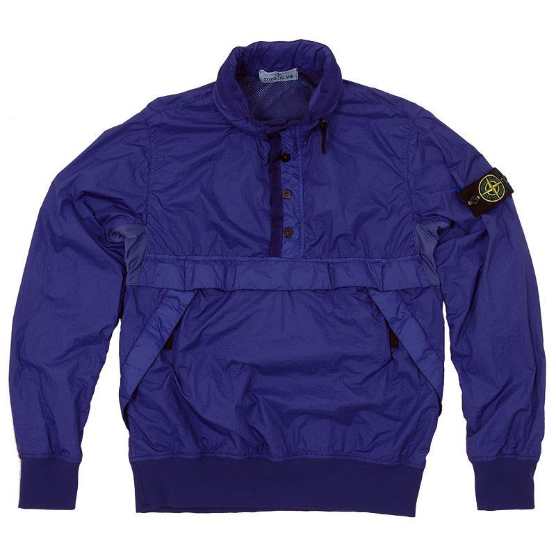 Stone Island Membrana Nylon Half Zip Jacket (Bluette)