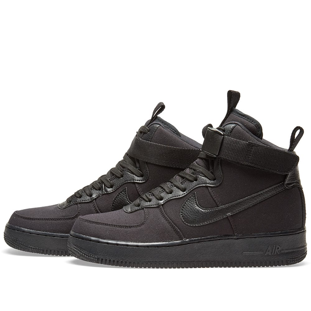 Nike Air Force 1 High Top Black Leather  ddd9849f0