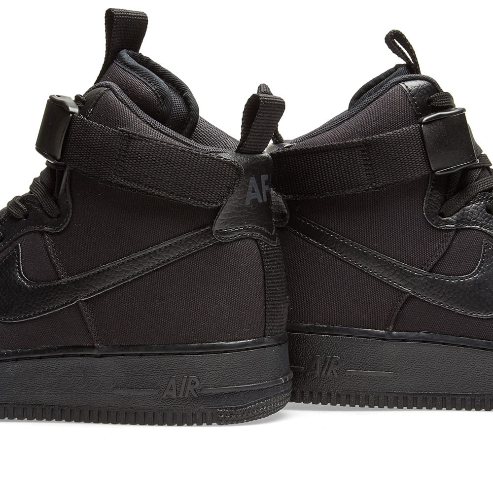 nike air force 1 hightop canvas and leather sneakers