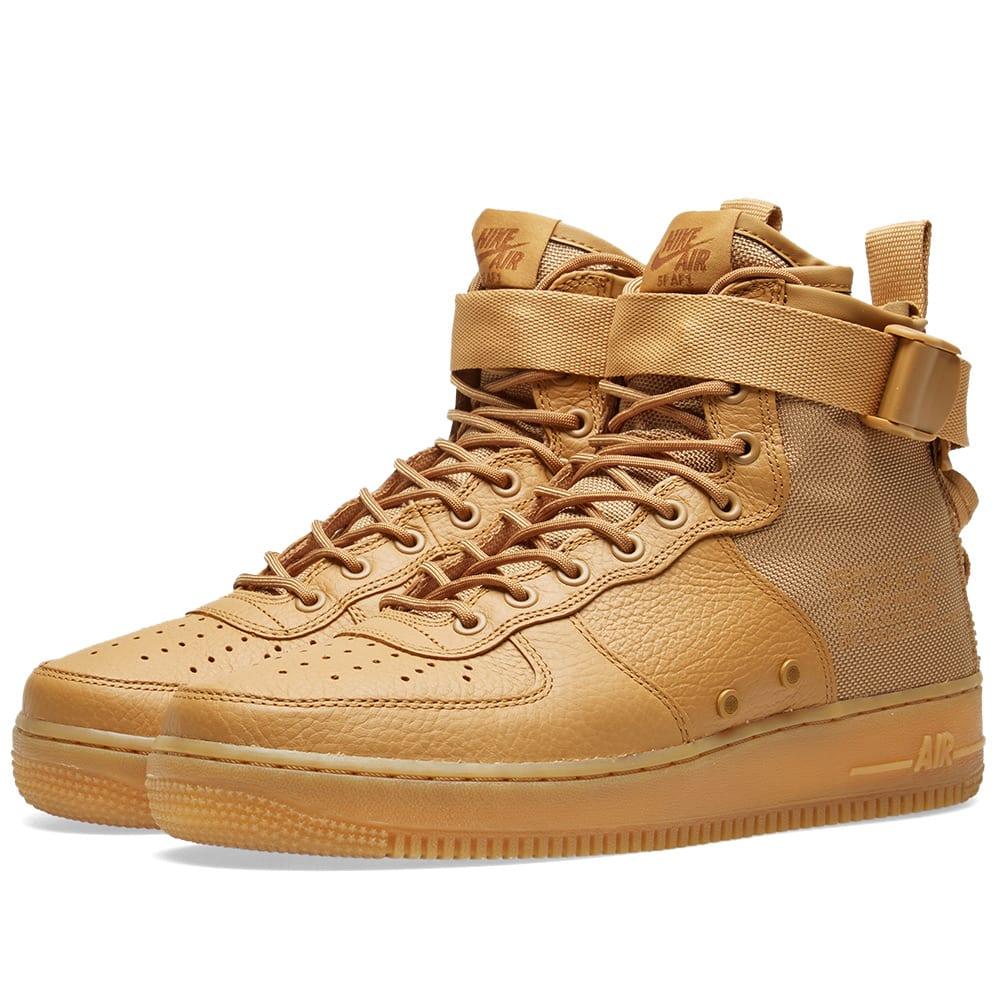 new concept fa895 17c01 Nike SF AF1 Mid W Elemental Gold   END.