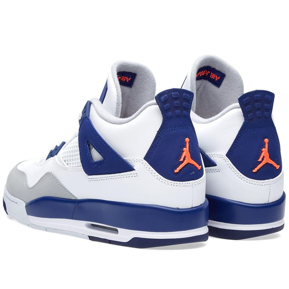 2b1c75d9a2717f Nike Air Jordan IV Retro GG White   Deep Royal Blue