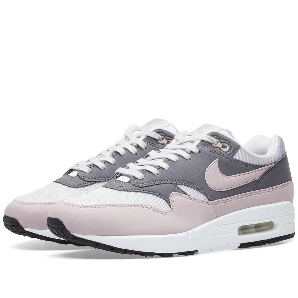 Nike Air Max 1 Grey Rose White Sneakers 319986 032