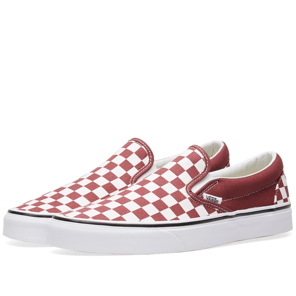 e2038881936c Vans Classic Slip On Checkerboard Apple Butter   True White