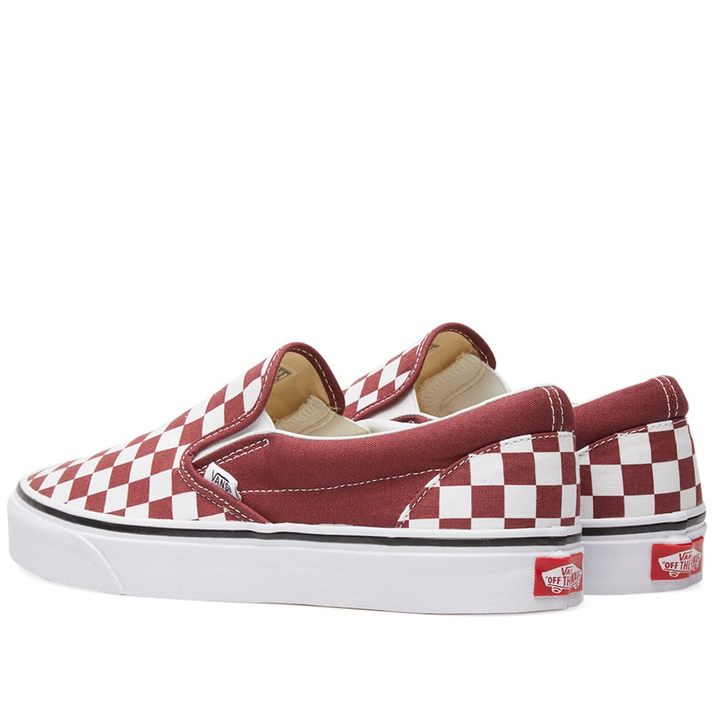 52123d0ed5 Vans Classic Slip On Checkerboard Apple Butter   True White