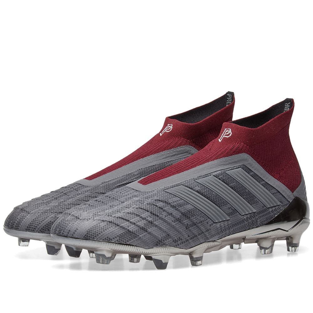 fc5aeea4f Adidas x Paul Pogba Predator 18+ FG Iron   Burgundy