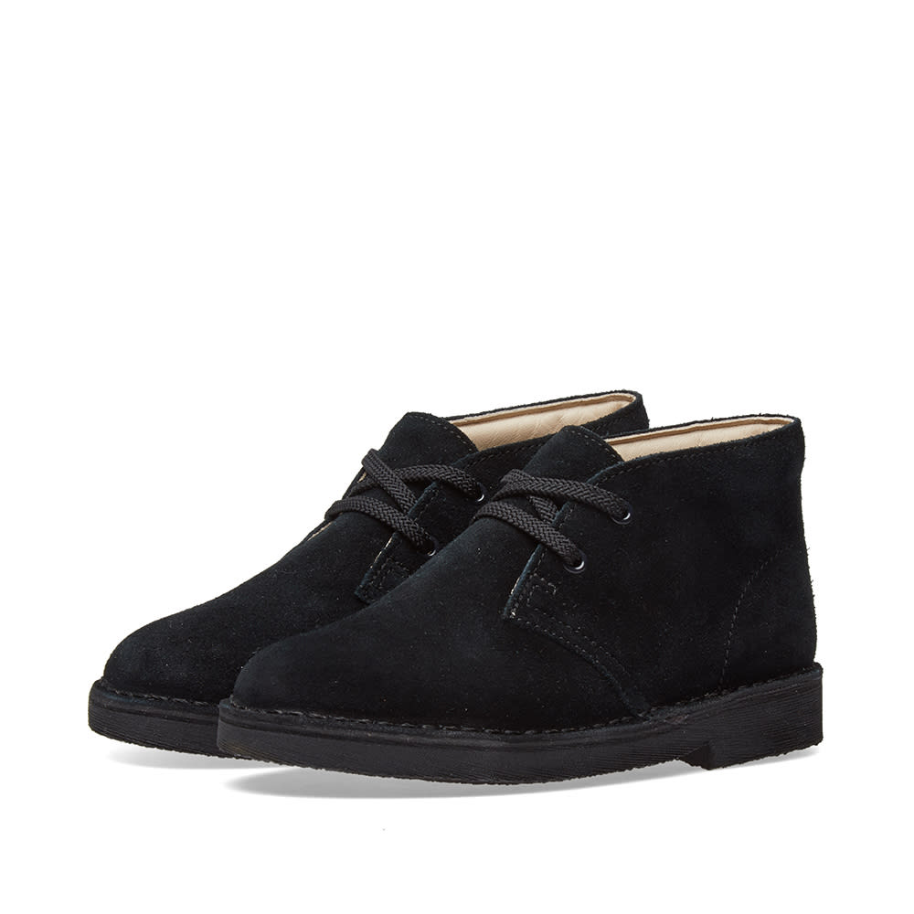 26a0c47237787 Clarks Originals Children's Desert Boot Black Suede | END.