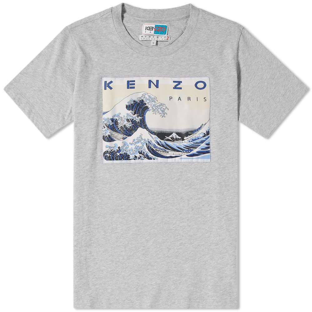 66f1d5320e82 Kenzo Wave Tee Pearl Grey | END.