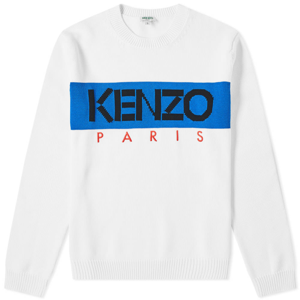 707c3843afd Kenzo Paris Logo Crew Knit White | END.