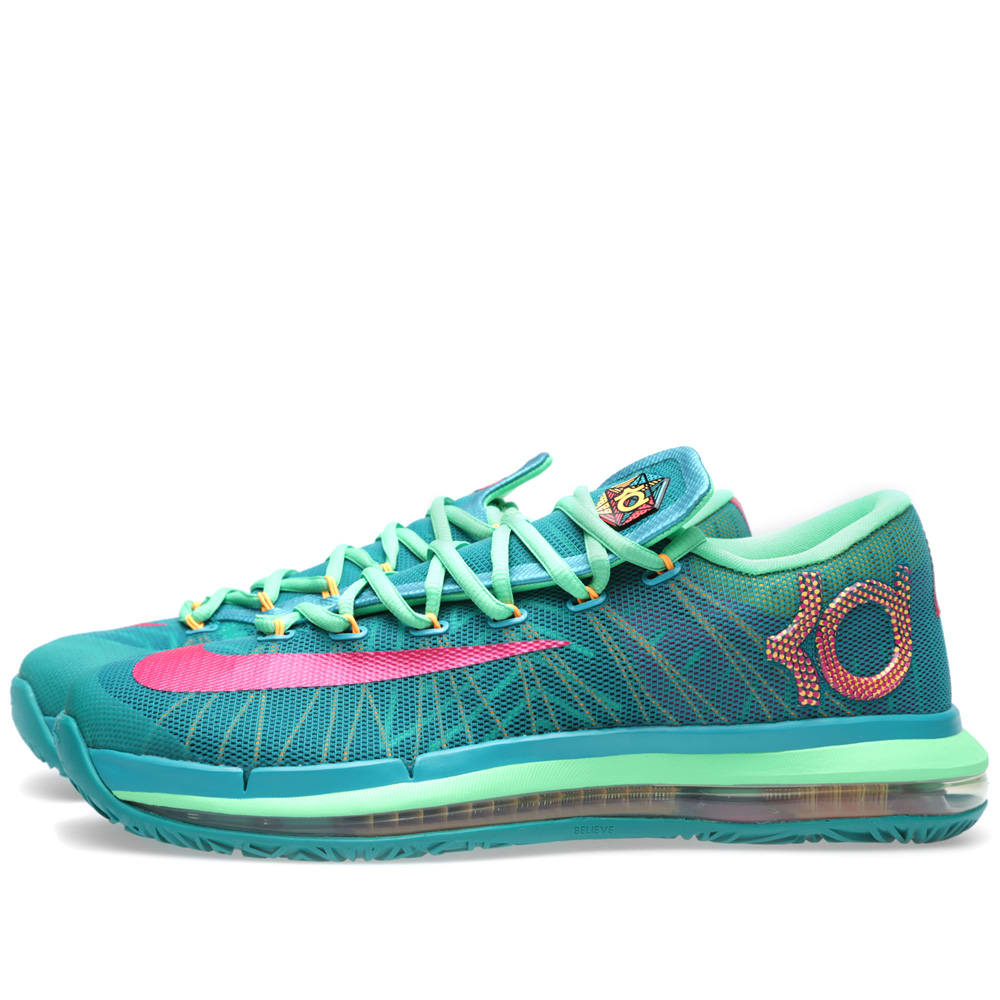 sports shoes 7543a 726a7 Nike KD VI Elite  Hero  Turbo Green   Vivid Pink   END.