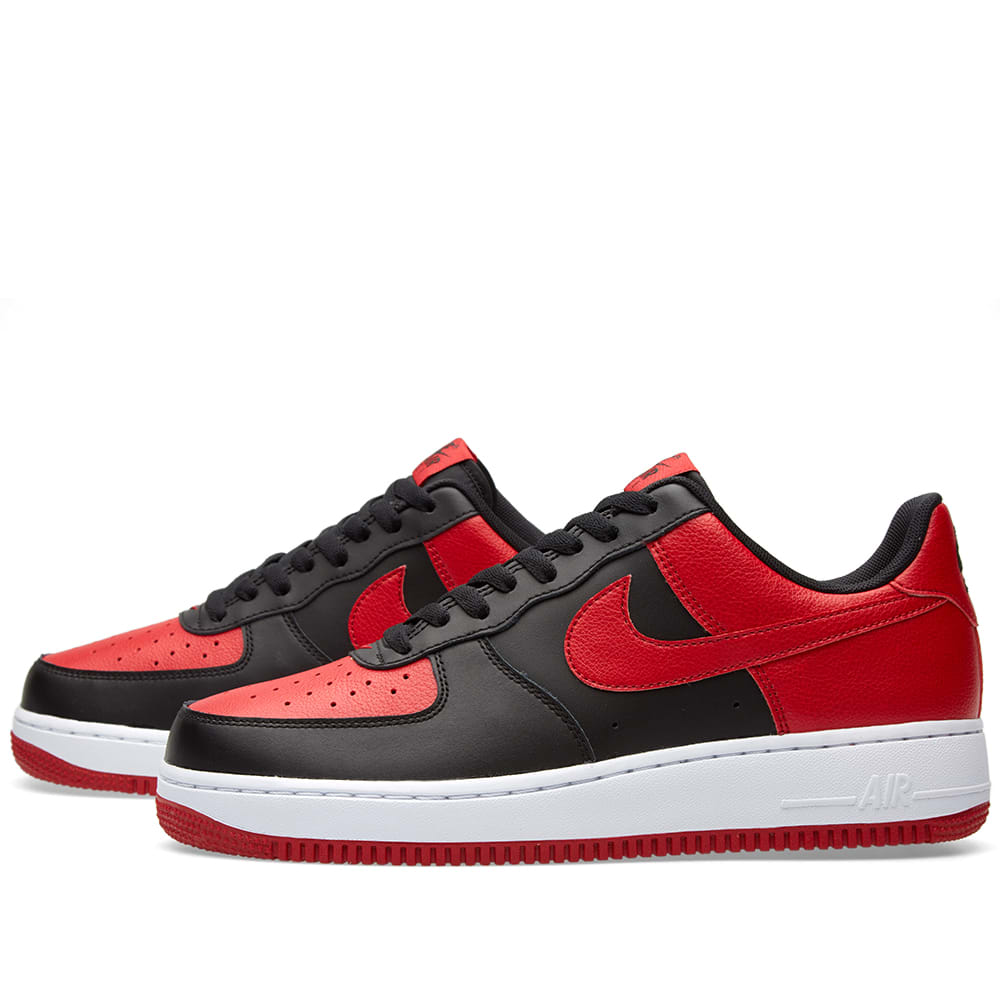 nike air force 1 black gym red white. Black Bedroom Furniture Sets. Home Design Ideas