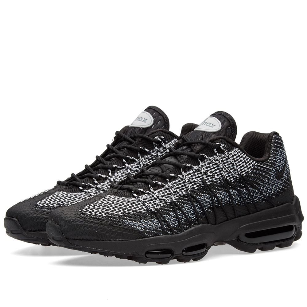 new style 634c2 cb817 Nike Air Max 95 Ultra Jacquard Black, White Stealth Grey   END.