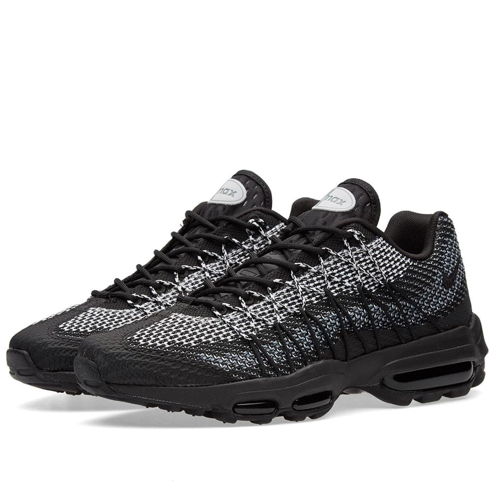 new style ba863 13062 Nike Air Max 95 Ultra Jacquard Black, White Stealth Grey   END.