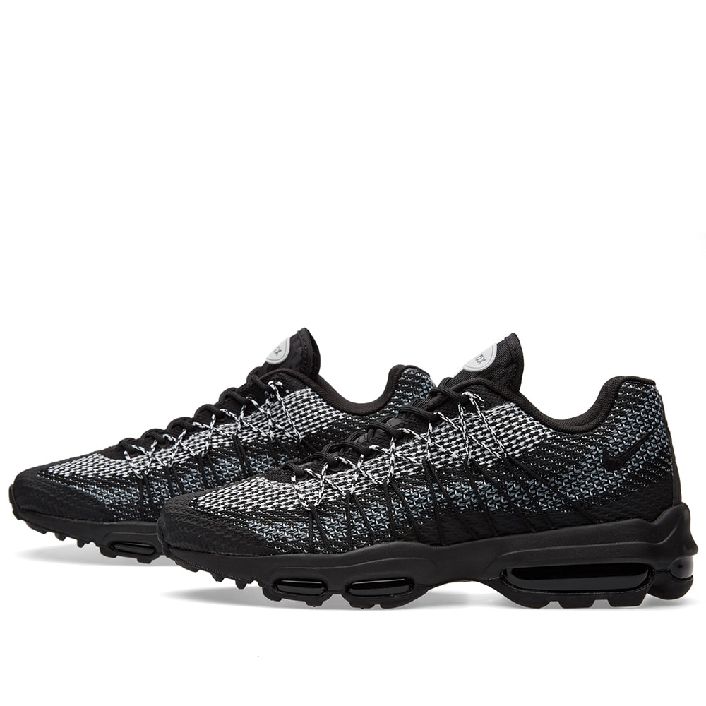 Nike Air Max 95 Ultra Jacquard Black, White Stealth Grey | END.