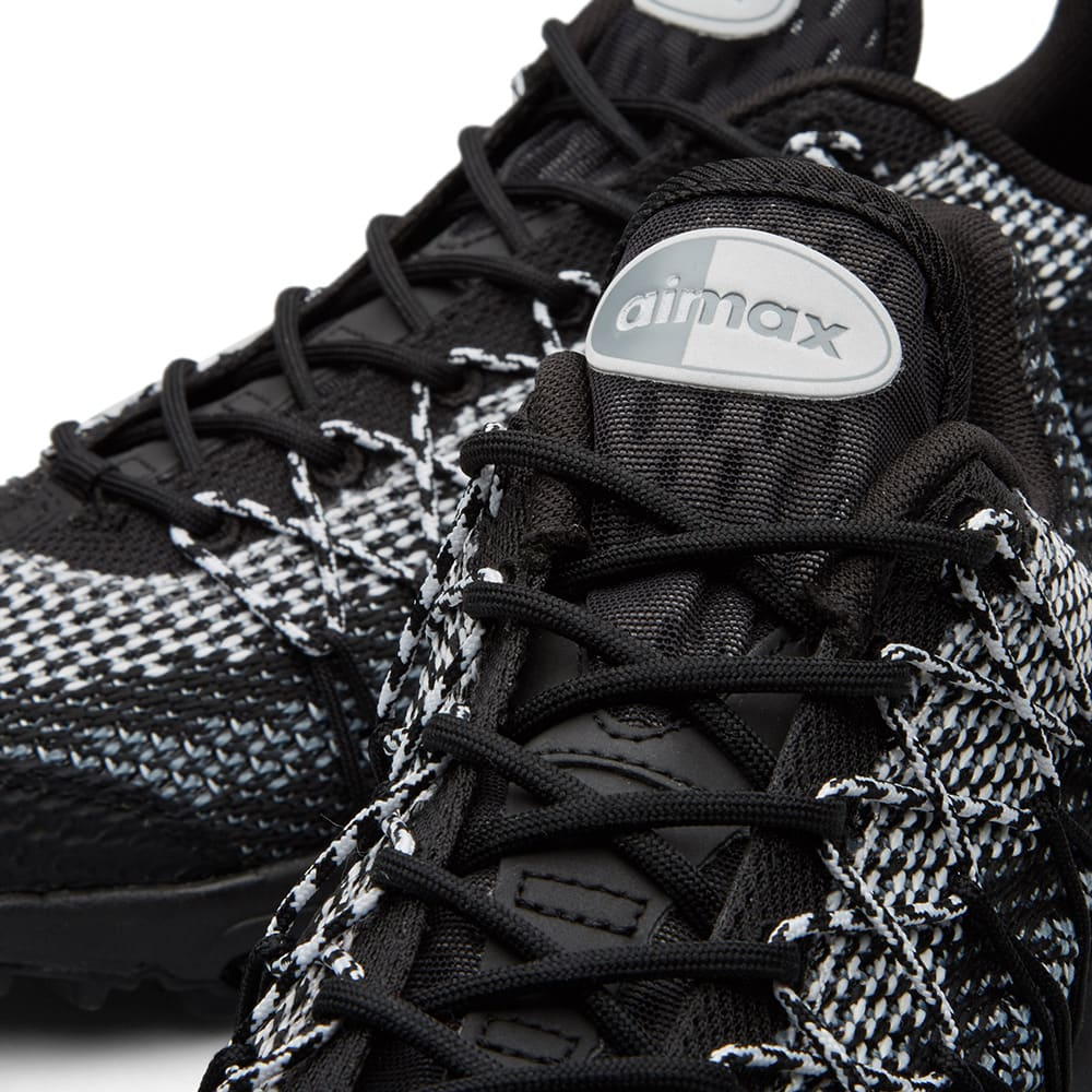 new style 1838d eee8d Nike Air Max 95 Ultra Jacquard Black, White Stealth Grey   END.