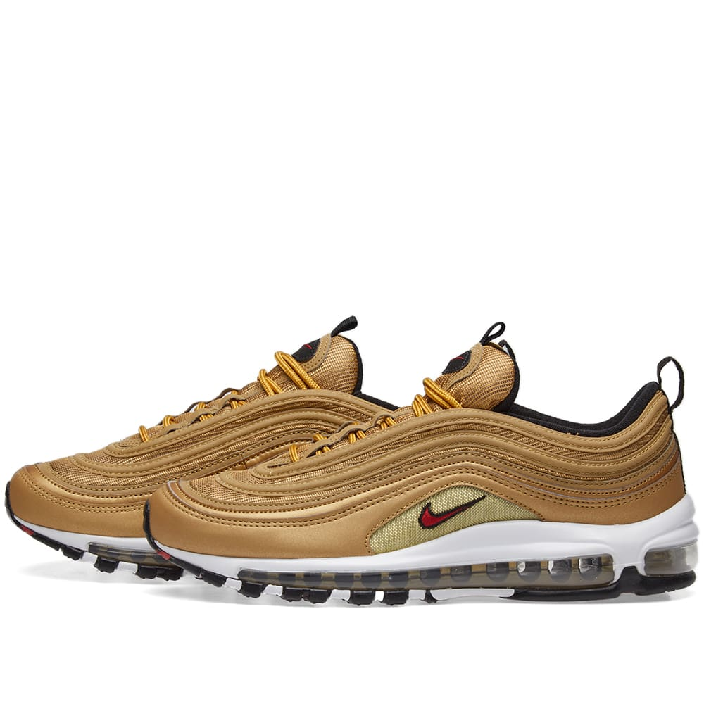 5bc27f7469 Nike Air Max 97 OG QS. Metallic Gold & Varsity Red