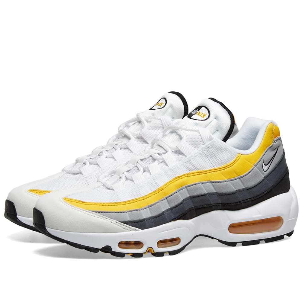 hot sale online da5d7 83431 Nike Air Max 95 White, Amarillo, Grey   Black   END.