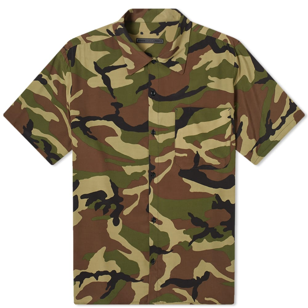 SOPHNET. | SOPHNET. Camoflage Rayon Wide Box Shirt Khaki | Goxip