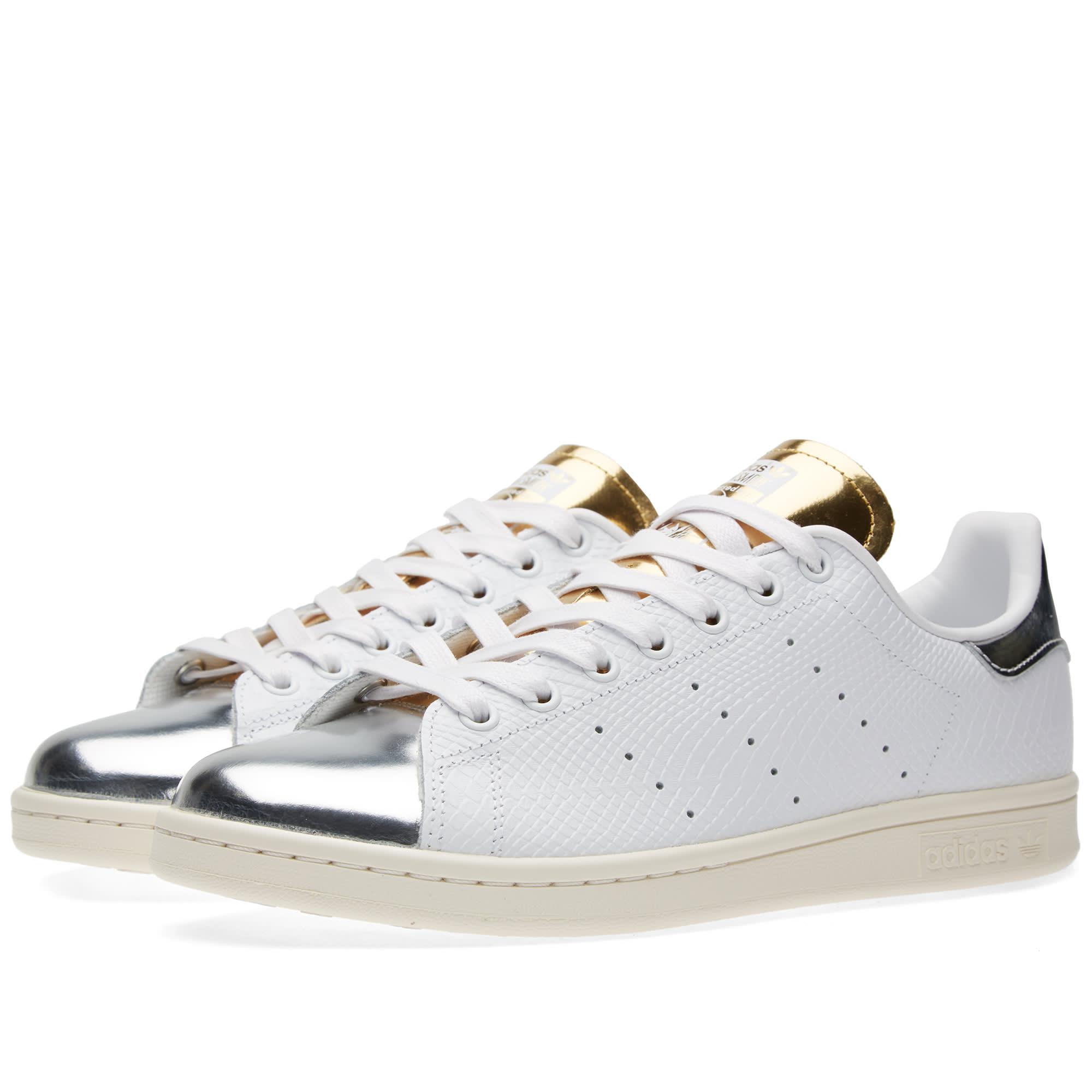 adidas stan smith white silver metallic. Black Bedroom Furniture Sets. Home Design Ideas