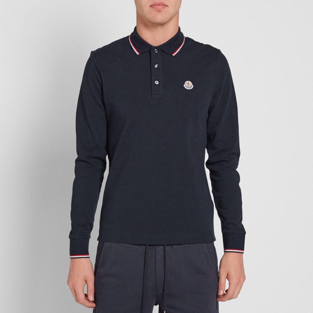 classic 56c79c38c moncler long sleeve polo shirt 83480 00