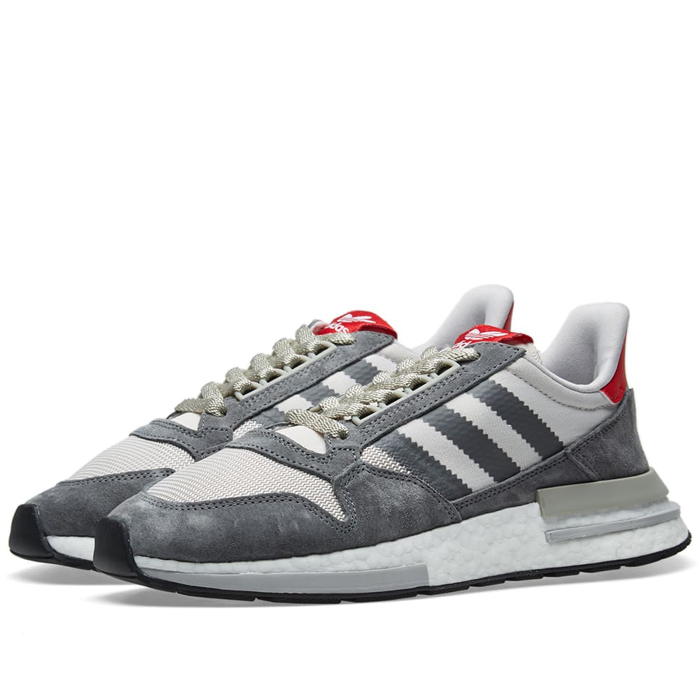 check out 65b3d e2fc1 Adidas ZX 500 RM Grey, Future White   Scarlet   END.
