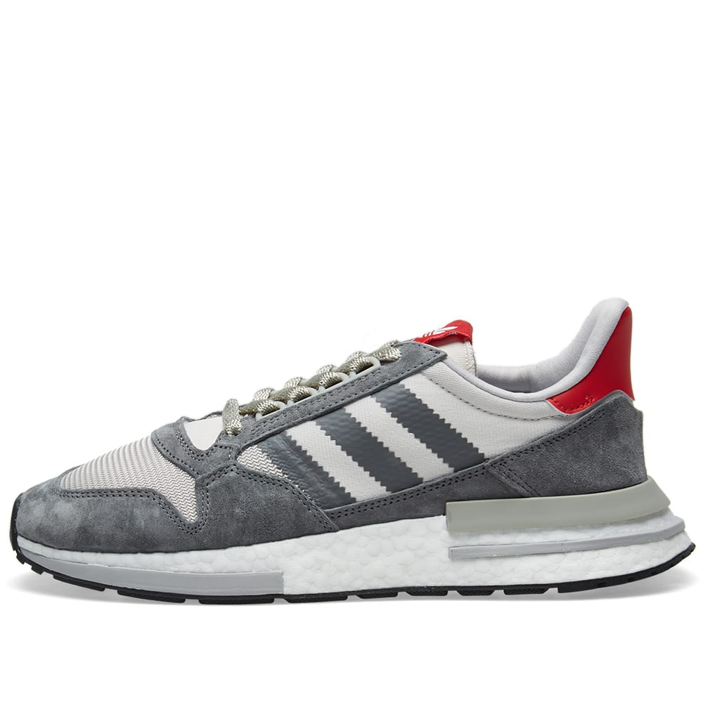 check out 8b33a 74fb3 Adidas ZX 500 RM Grey, Future White   Scarlet   END.
