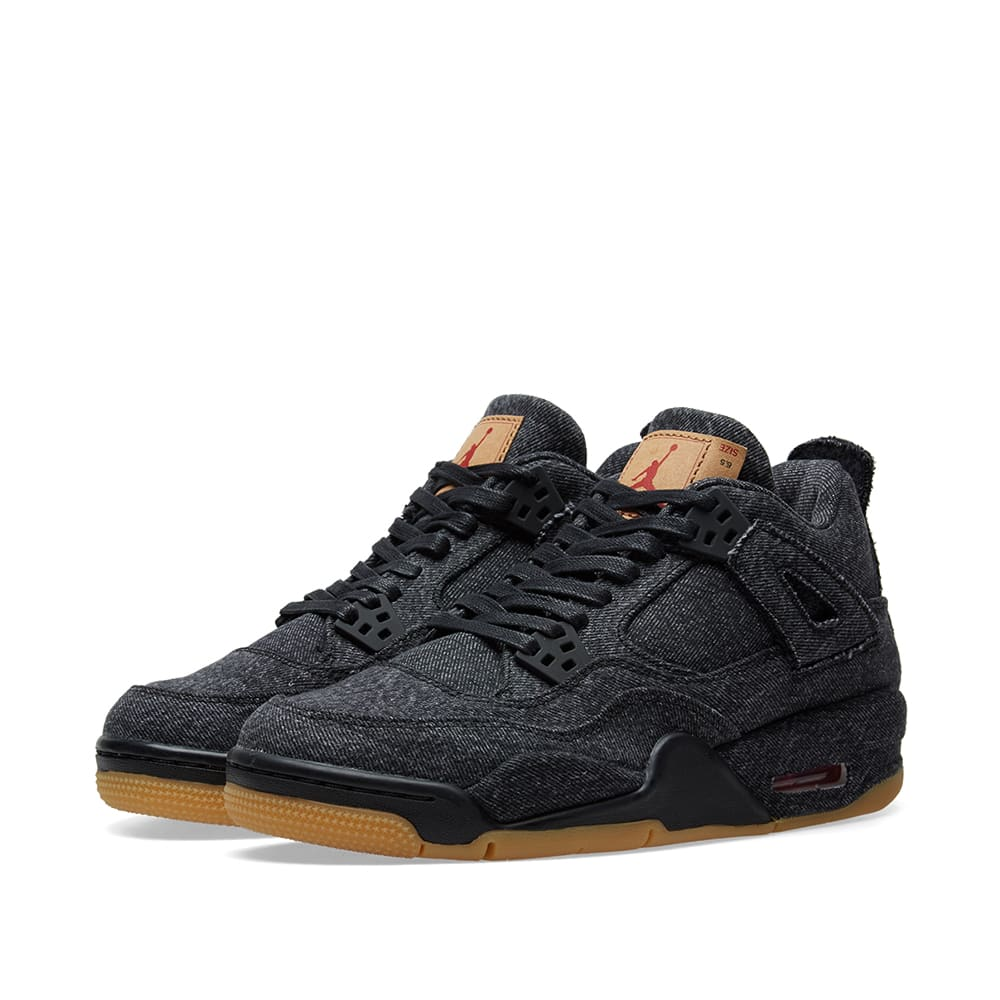 a375e054b1e2 Levi s x Air Jordan 4 Retro NRG GS Black