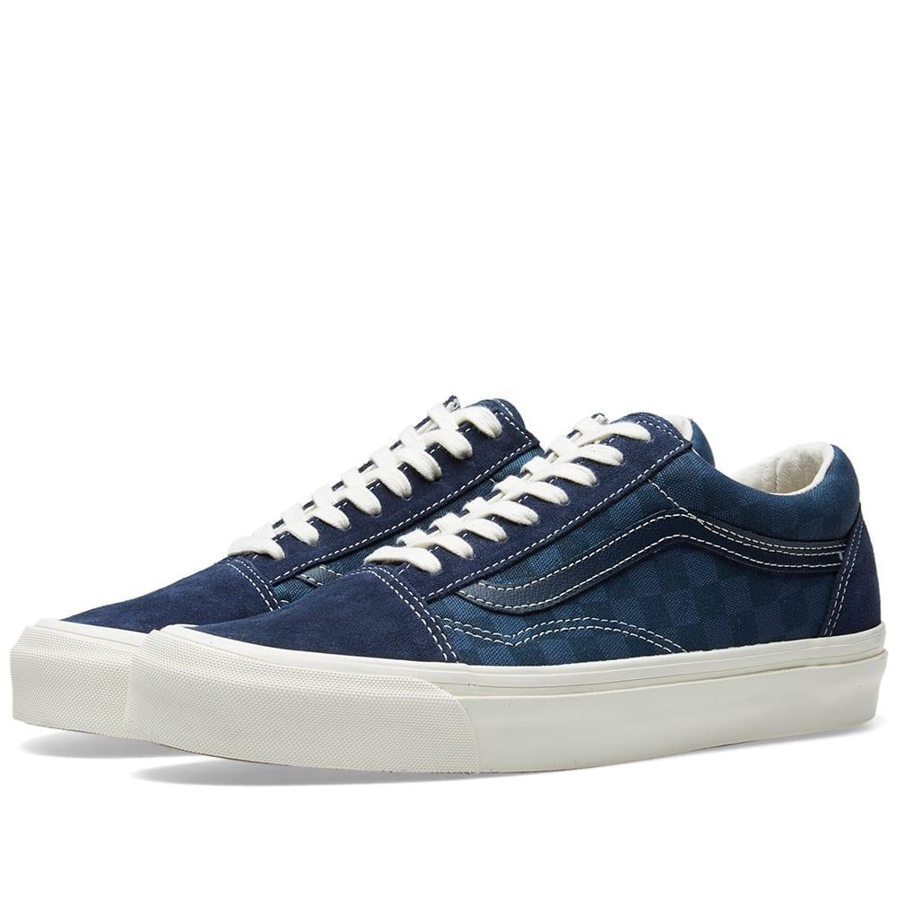 4ab4ae4580 Vans Vault OG Old Skool LX Checkerboard   Majolica Blue