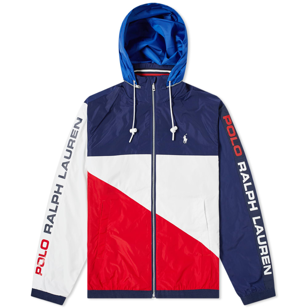 68eb597307 Polo Ralph Lauren Tricolore Flag Zip Through Windbreaker