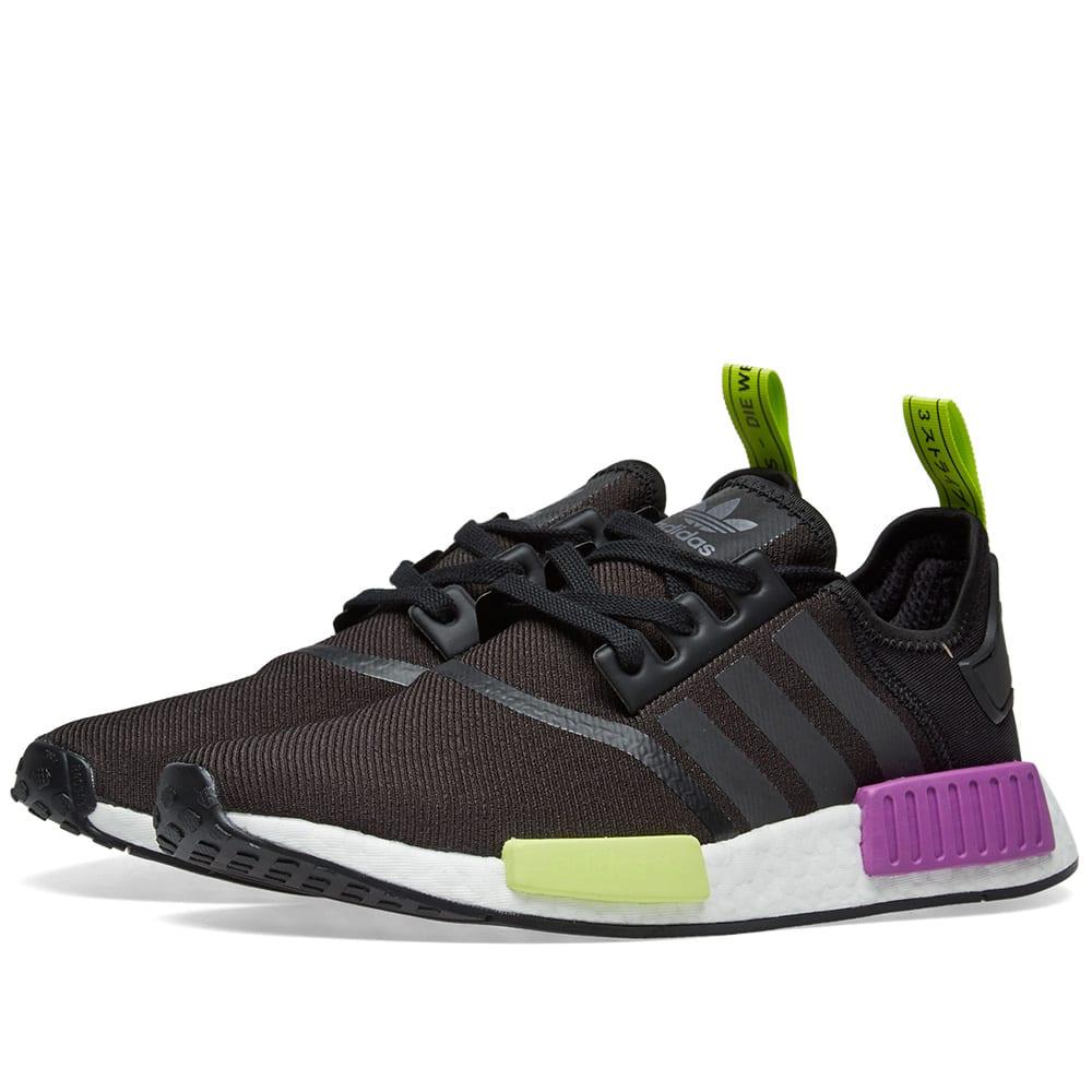 65753f3d0 Adidas NMD R1 Core Black   Shock Purple