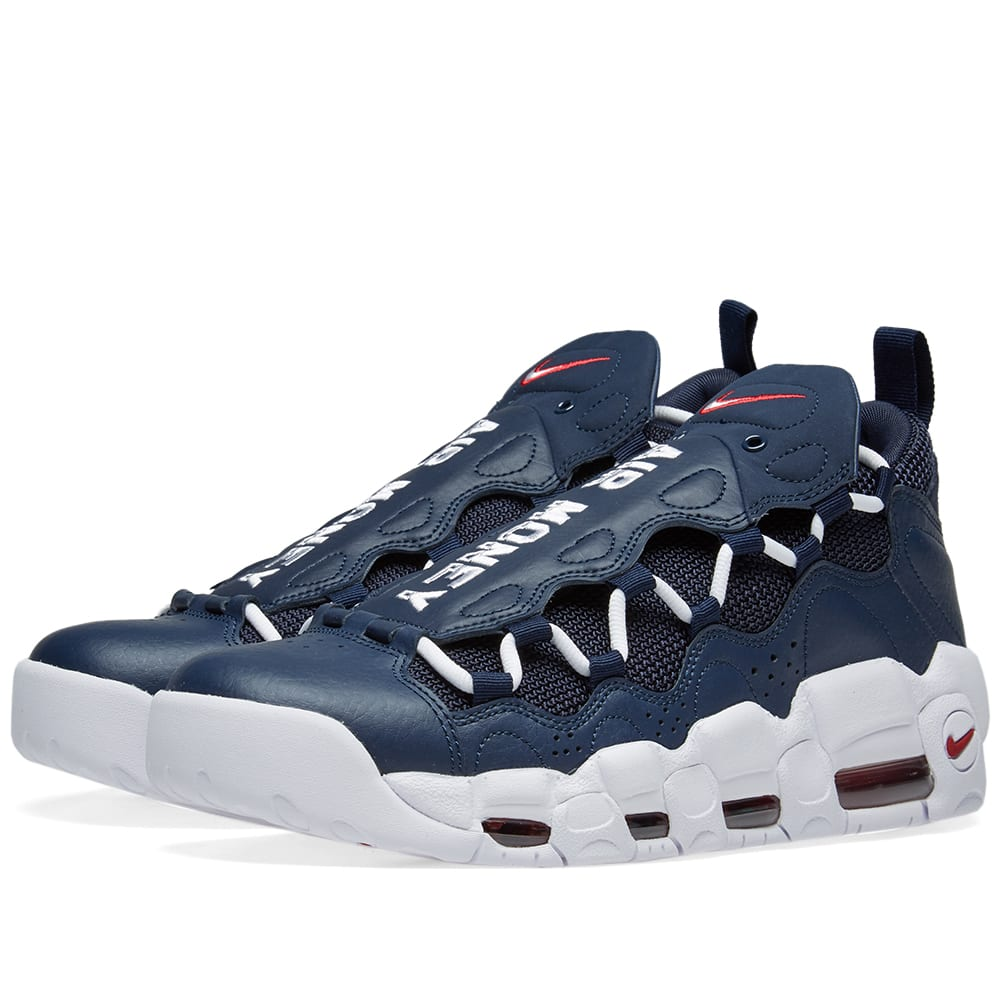 Air More Money Nike Air More Money Obsidian, White & Gym Red | END.
