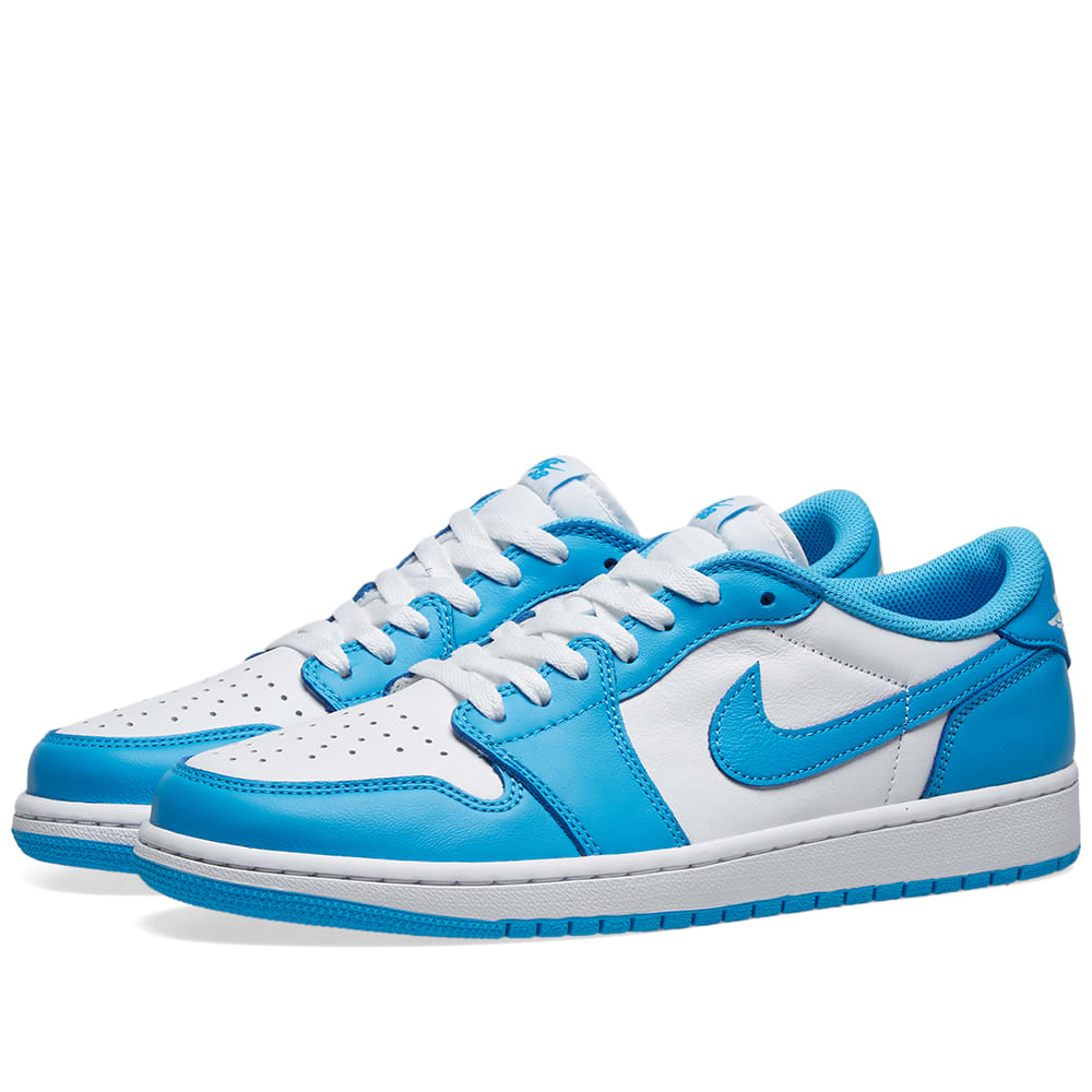 Air Jordan 1 Low Sb Unc Powder Blue White End