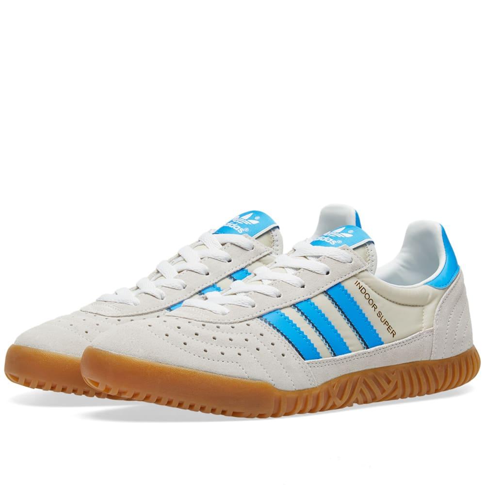 50a7130f2 Adidas Indoor Super Vintage White   Bright Blue