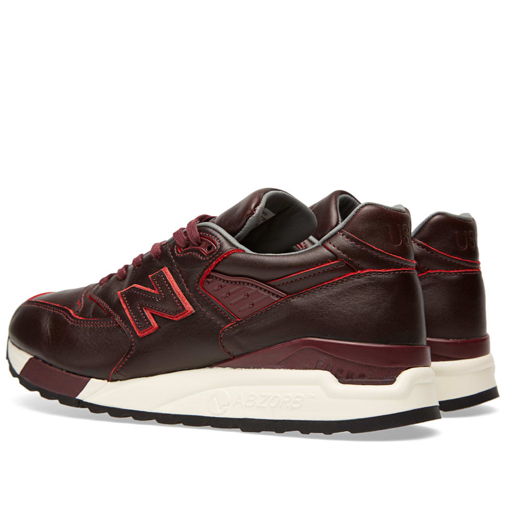 premium selection 2a408 adf1b New Balance x Horween M998WD - Made in the USA Burgundy   END.