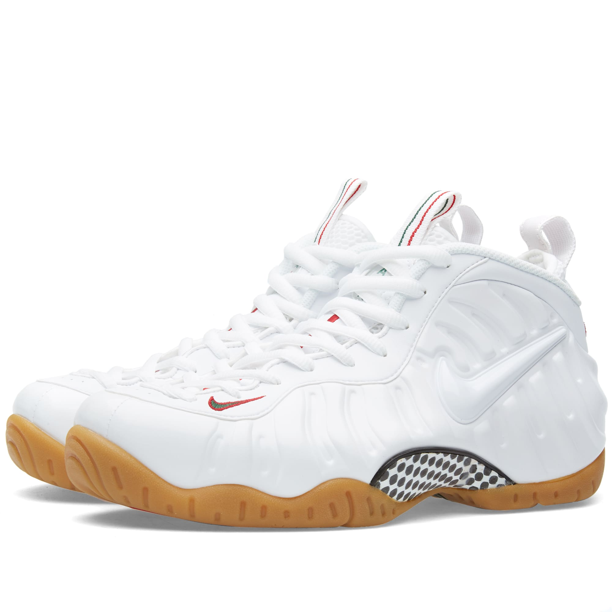 finest selection c86ae 7518f Nike Air Foamposite Pro White, Gym Red   Gorge Green   END.