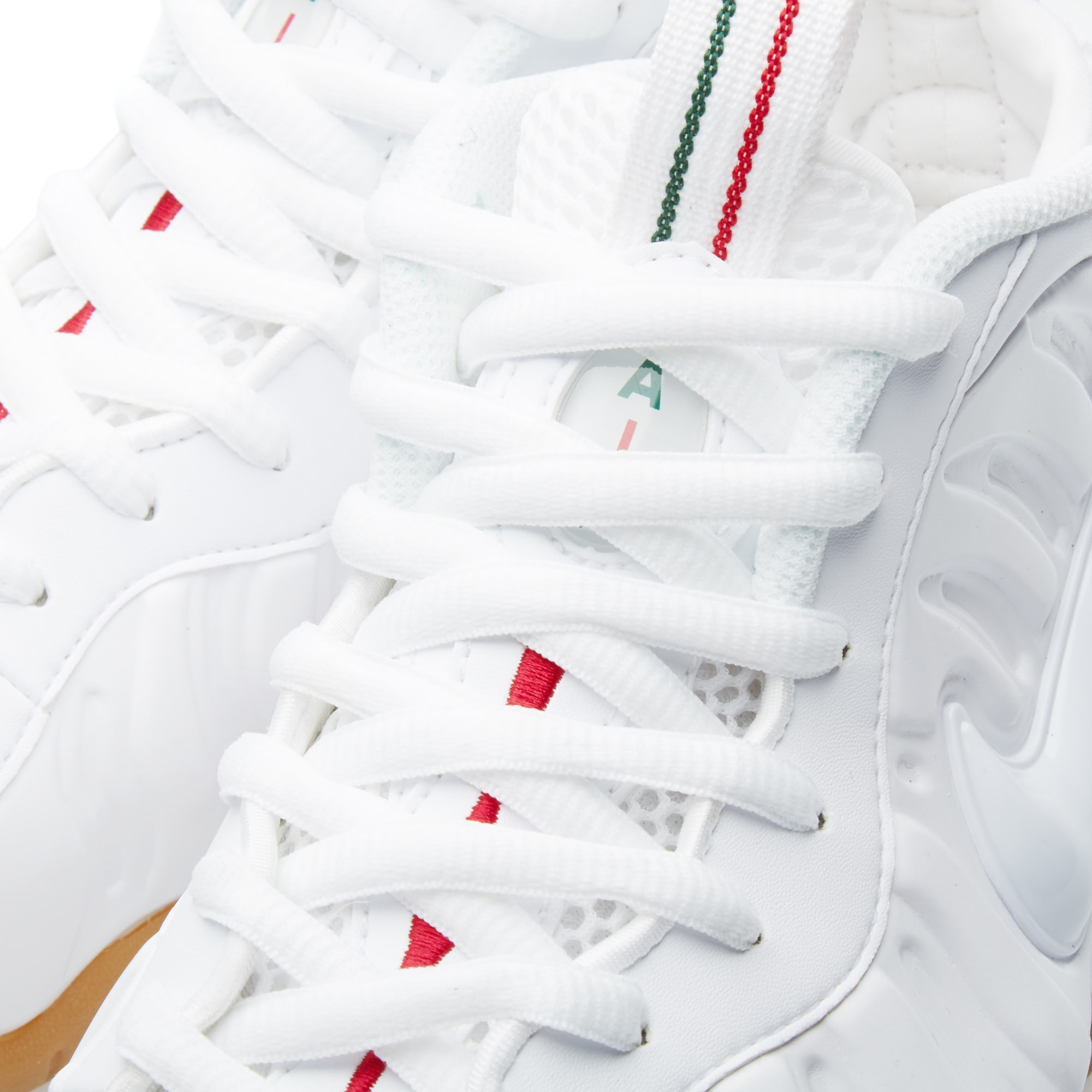 finest selection a36ac 82540 Nike Air Foamposite Pro White, Gym Red   Gorge Green   END.