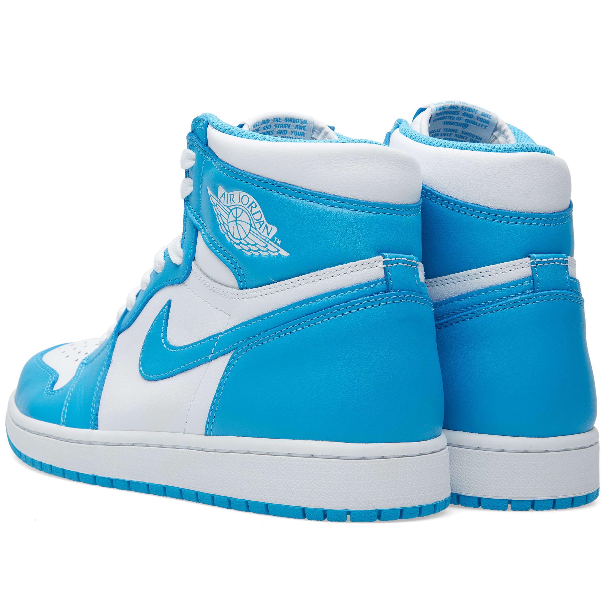 6e9c3c76778586 Nike Air Jordan 1 Retro High OG White   Dark Powder Blue