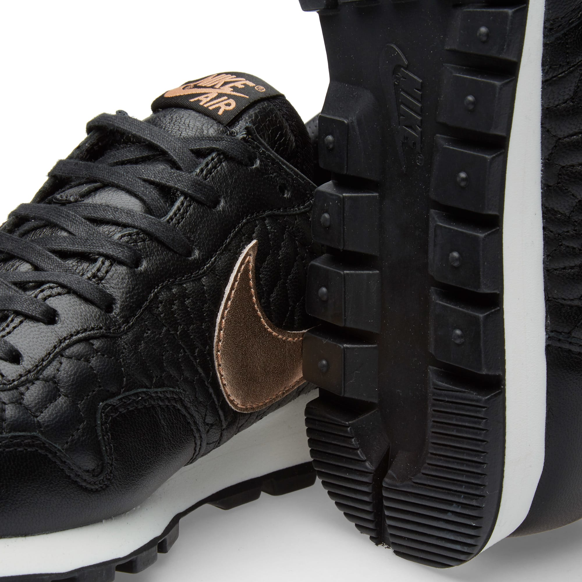 167aad10c4c Nike W Air Pegasus  83 Premium Quilt Black   Metallic Rose Gold