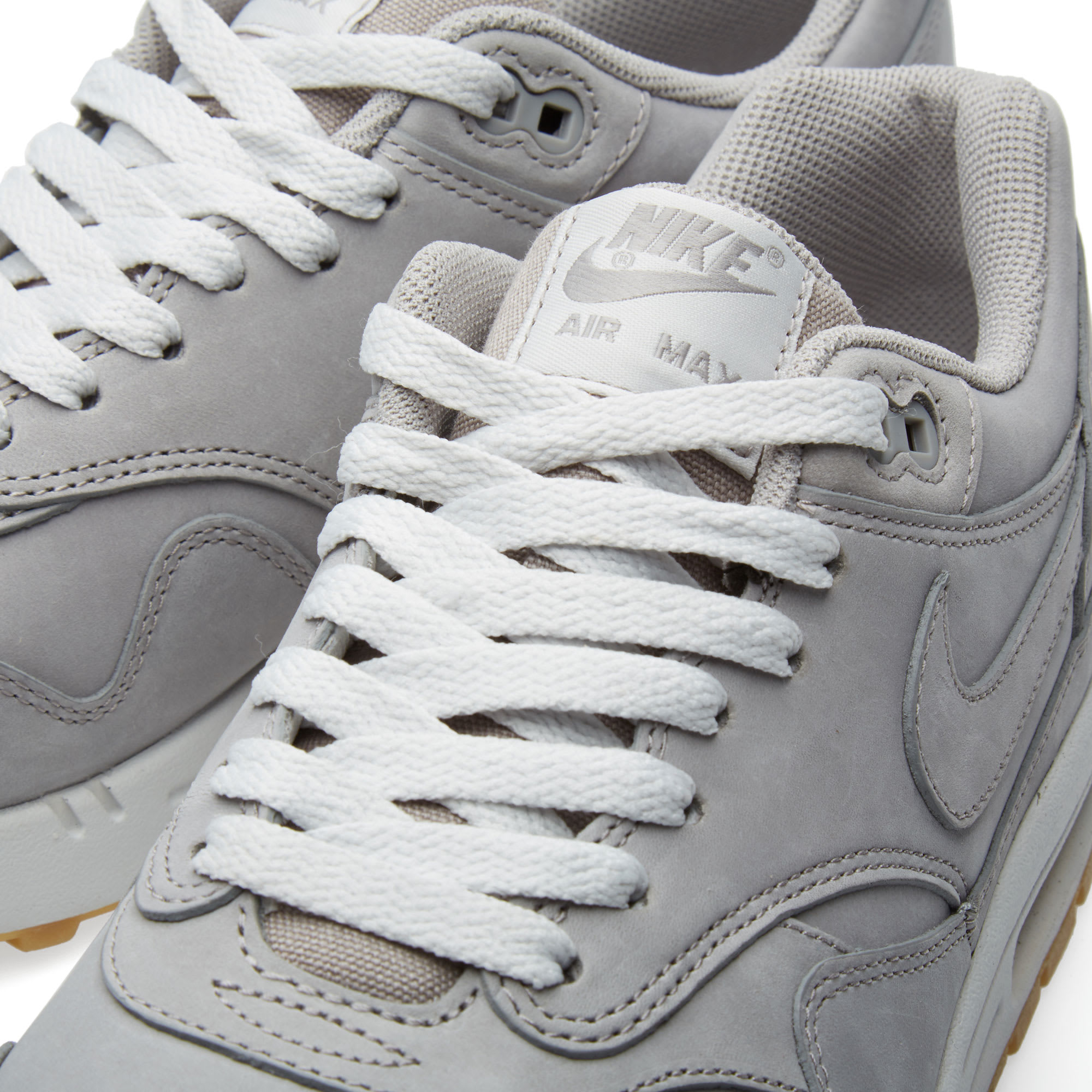 new arrival 780fb c1662 Nike Air Max 1 Leather Premium Medium Grey   Neutral Grey   END.