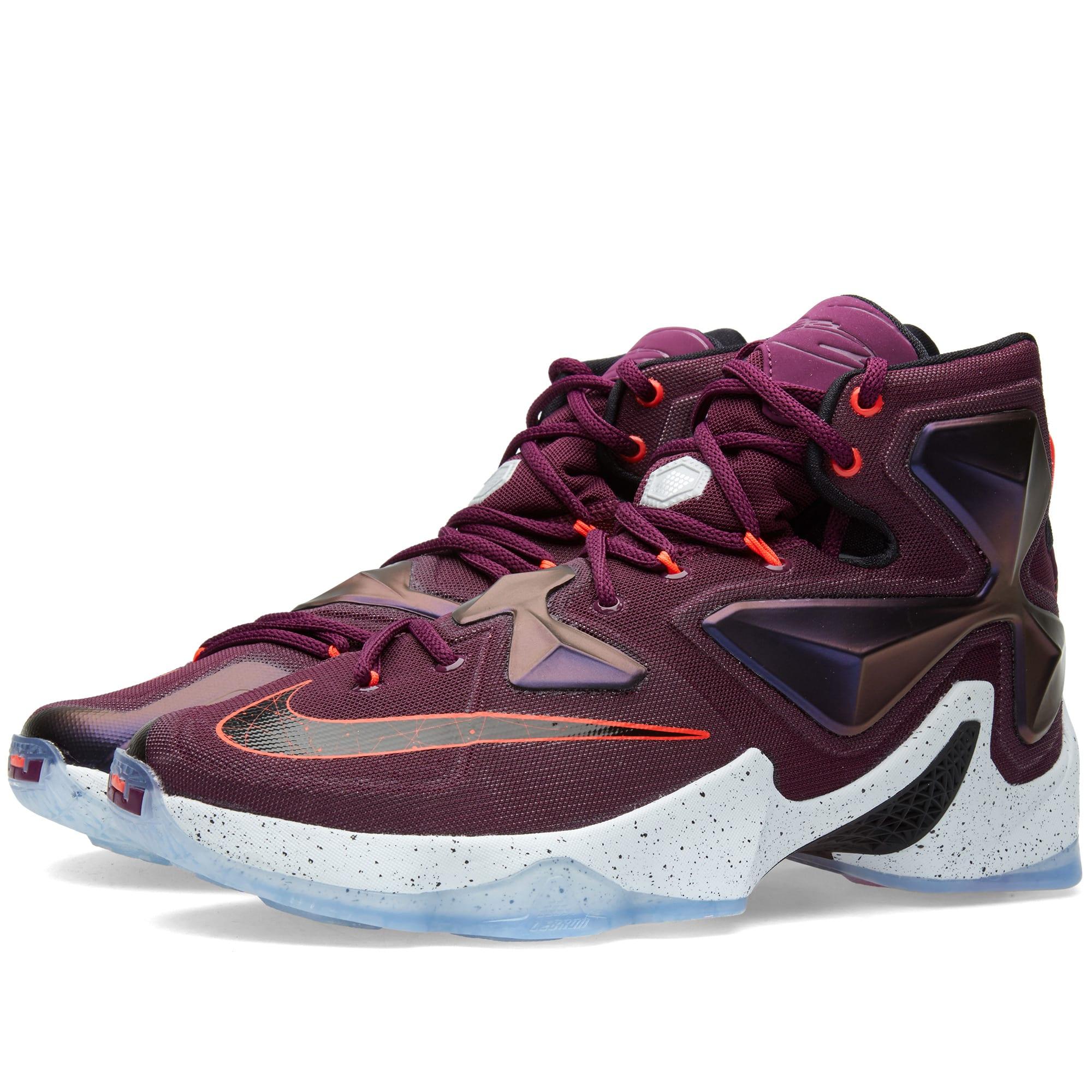 2e12771470d6 Nike LeBron 13 Written in the Stars Mulberry